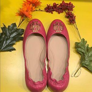 Tory Burch pink ballet flats